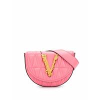 Versace Cinto Virtus De Couro - Rosa