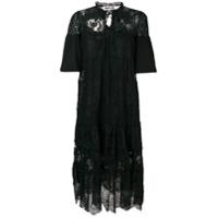 Mcq Alexander Mcqueen Vestido De Renda Floral - Preto