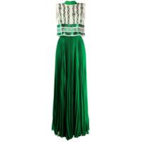 Elisabetta Franchi Vestido Longo Com Pregas - Verde