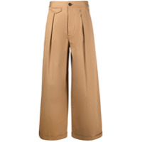 Dsquared2 Calça Pantalona De Algodão - Neutro