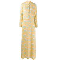 C'Est La V.it Vestido Longo Estapado - Amarelo