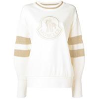 Moncler Suéter Com Patch De Logo - Neutro