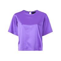 Cynthia Rowley Camiseta De Cetim - Roxo