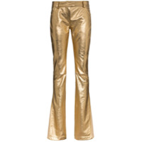 Ronald Van Der Kemp Calça Flare Metalizada - Dourado