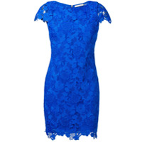 Alice+Olivia Floral Lace Short Dress - Azul