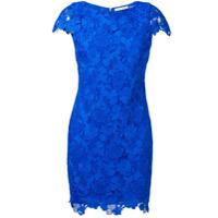 Alice+Olivia Floral Lace Short Dress - Azul