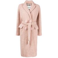 Ava Adore Casaco De Lã Com Textura - Rosa
