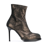 Ann Demeulemeester Ankle Boot Metálica - Preto