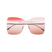 Fendi Óculos De Sol Quadrdado - Rosa