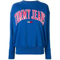 Tommy Jeans Moletom Com Logo - Azul
