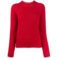 A.p.c. Ribbed Cut-Out Detail Sweater - Vermelho