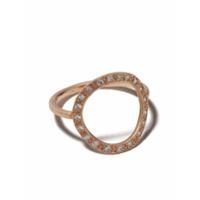 Brooke Gregson Anel Em Ouro Rosê 14K Com Diamante - Gold