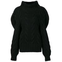 Aalto Suéter De Tricô Mangas Amplas - Preto