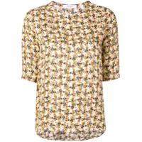 Roseanna Camiseta Com Estampa Floral - Neutro