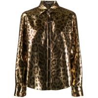 Dolce & Gabbana Camisa Animal Print - Dourado