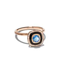 Selim Mouzannar Anel Mina De Ouro Rosé 18K Com Safira E Diamantes - Rose Gold
