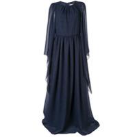 Ingie Paris Vestido De Festa Com Drapeado - Azul