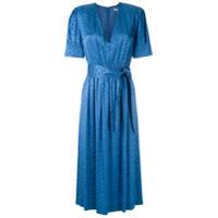 Nk Vestido Midi Nivea Em Jacquard - Azul