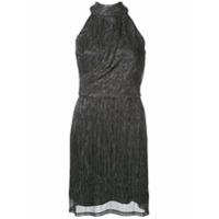 Halston Heritage Vestido Sem Mangas Metálico - Preto