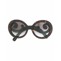 Prada Eyewear Óculos De Sol Redondo - Preto