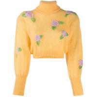 Greta Boldini Suéter Com Bordado De Rosa - Amarelo