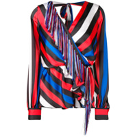 Msgm Striped Long-Sleeve Top - Preto