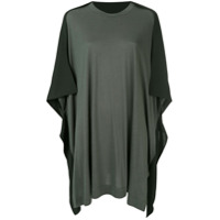 Y's Camiseta Oversized Bicolor - Green