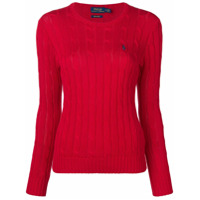 Polo Ralph Lauren Logo Cable Knit Sweater - Vermelho