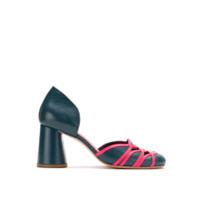 Sarah Chofakian Sapato De Couro Com Recortes - Azul