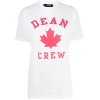 Dsquared2 Camiseta Com Estampa De Folha - Branco