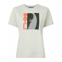 Alexa Chung Camiseta Com Estampa Gráfica - Cinza