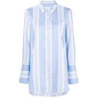 Equipment Camisa Listrada Mangas Longas - Azul
