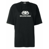 Balenciaga Camiseta Oversized - Preto