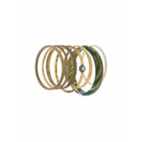 Iosselliani Elegua Set Of Bracelets - Dourado