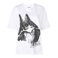 Koché Camiseta Com Estampa Gráfica - Branco