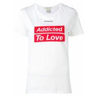 Pinko Addicted To Love T-Shirt - Branco
