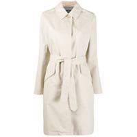 A.p.c. Trench Coat Lucienne Com Abotoamento Simples - Neutro