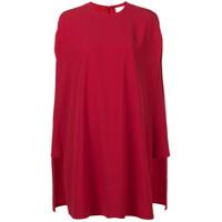 Sara Battaglia Vestido Evasê - Vermelho
