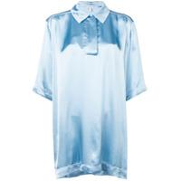 Loewe Camisa Oversized Com Mangas Curtas - Azul