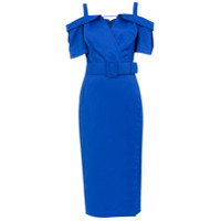 Tufi Duek Vestido Midi Com Cinto - Azul