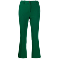 Nine In The Morning Calça Flare Cropped - Verde