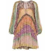 Zimmermann Vestido Carnaby Com Pregas E Estampa Floral - Rosa