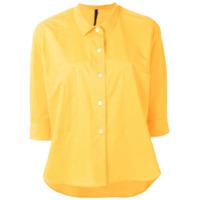 Sara Lanzi Camisa Mangas Curtas - Amarelo
