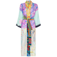Rianna + Nina Kimono Com Mix De Estampas Florais - 108 - Multicoloured