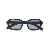 Prada Eyewear Óculos De Sol Retangular Marrom Com Lentes Coloridas