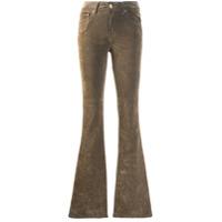 Don't Cry Calça Jeans Flare Velur - Neutro