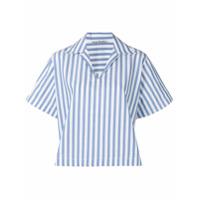 Acne Studios Camisa Boxy Listrada - Azul