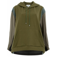 Koché Blusa De Moletom Color Block - Green