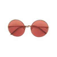 Pomellato Eyewear Óculos De Sol Redondo - Marrom