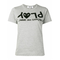 Comme Des Garçons Play Camiseta Estampada - Cinza